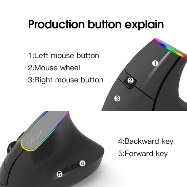2.4G Wireless Vertical Ergonomic Optical Mouse with Receiver_8