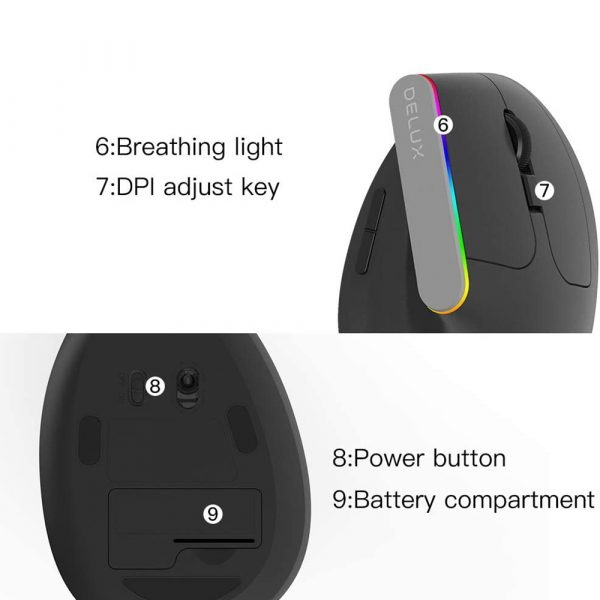2.4G Wireless Vertical Ergonomic Optical Mouse with Receiver_10