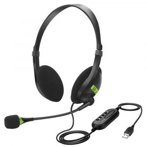 3.5mm USB Interface Noise Cancelling Headphones with Microphone