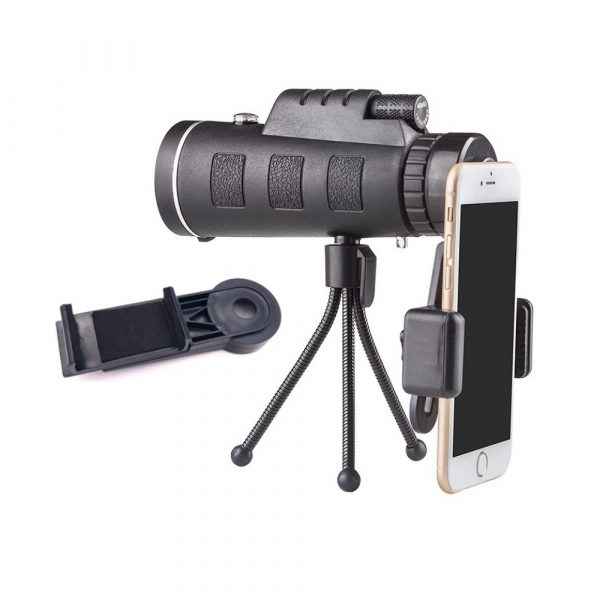 High Power Magnification Monocular Telescope with Smart Phone Holder_1