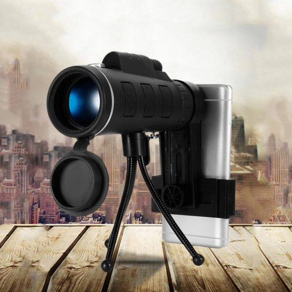 High Power Magnification Monocular Telescope with Smart Phone Holder_2