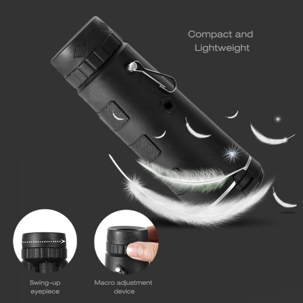 High Power Magnification Monocular Telescope with Smart Phone Holder_7