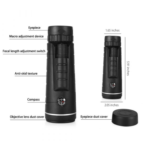 High Power Magnification Monocular Telescope with Smart Phone Holder_8