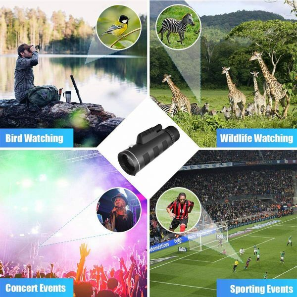 High Power Magnification Monocular Telescope with Smart Phone Holder_10