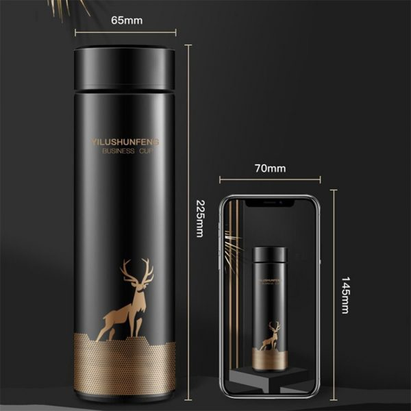 Insulated Hot Water Bottle Vacuum Thermos Flask with LCD Display_10