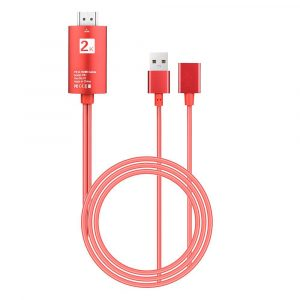 2m USB to HDMI 2K HD Cable Cord for 8-Pin Apple Devices