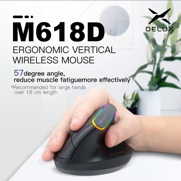 2.4G Wireless Vertical Ergonomic Optical Mouse with Receiver_5