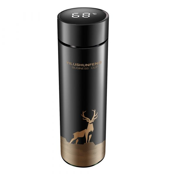 Insulated Hot Water Bottle Vacuum Thermos Flask with LCD Display_0