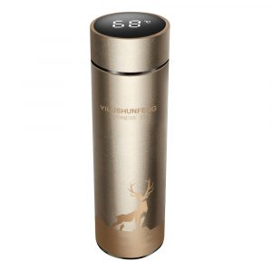 Insulated Hot Water Bottle Vacuum Thermos Flask with LCD Display