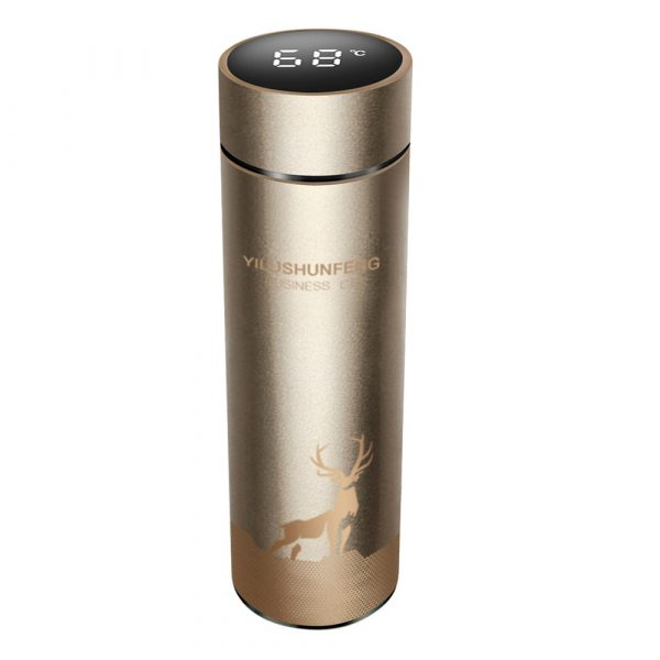 Insulated Hot Water Bottle Vacuum Thermos Flask with LCD Display_1