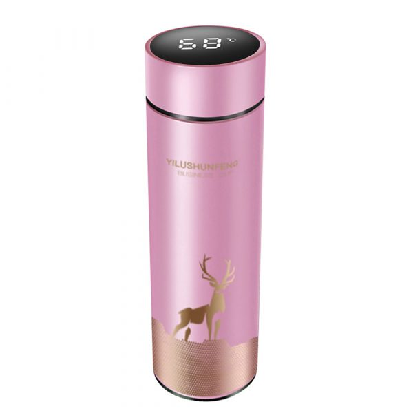 Insulated Hot Water Bottle Vacuum Thermos Flask with LCD Display_3