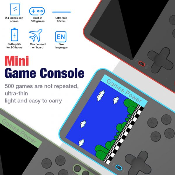 500-in-1 Portable Lightweight Rechargeable Ultra-Thin Gaming Console_5