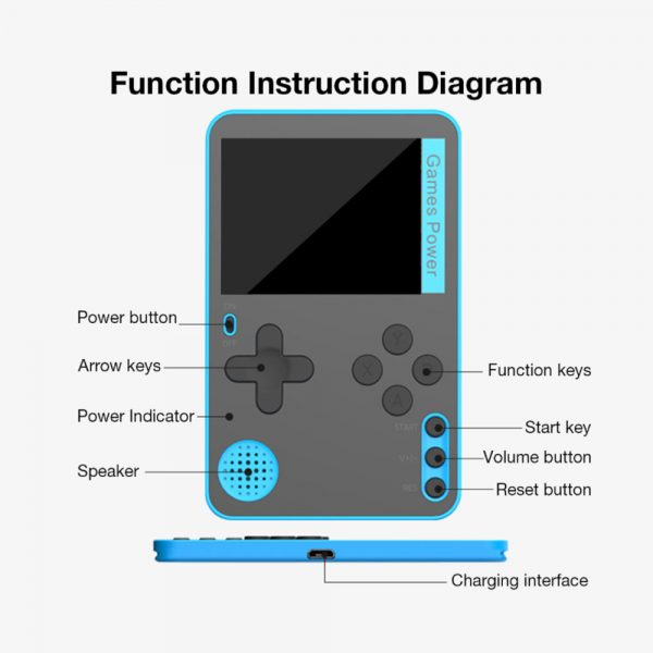 500-in-1 Portable Lightweight Rechargeable Ultra-Thin Gaming Console_11
