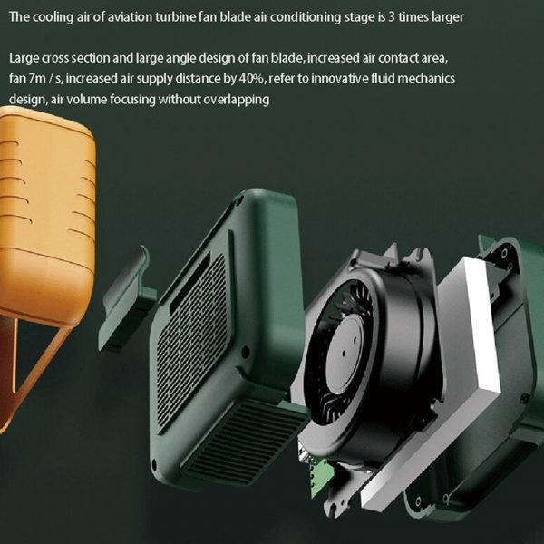 USB Portable Personal Hanging Waist Fan with Rechargeable Battery_8
