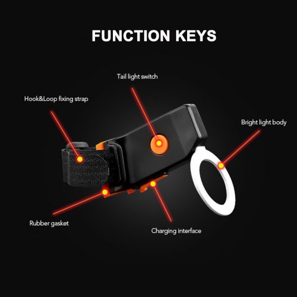 Bicycle Tail Light USB Rechargeable Mountain Bike Night Light_6