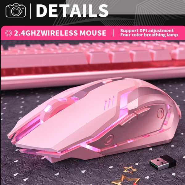 6 Keys Ergonomic Wireless Rechargeable Gaming Mouse with Backlight_5
