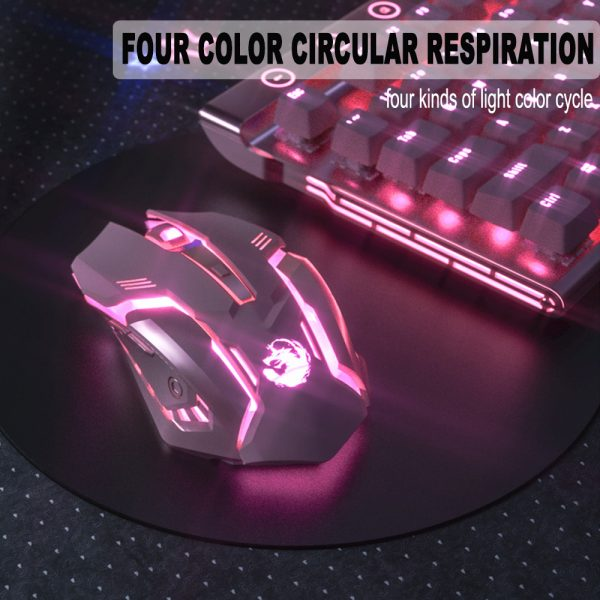 6 Keys Ergonomic Wireless Rechargeable Gaming Mouse with Backlight_8