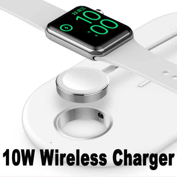 3-in-1 Wireless Charger for QI Devices iPhone, Watch & Airpods_4