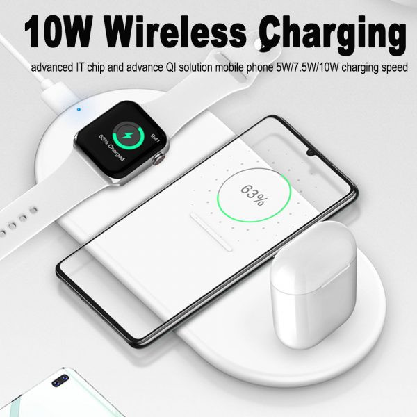 3-in-1 Wireless Charger for QI Devices iPhone, Watch & Airpods_7