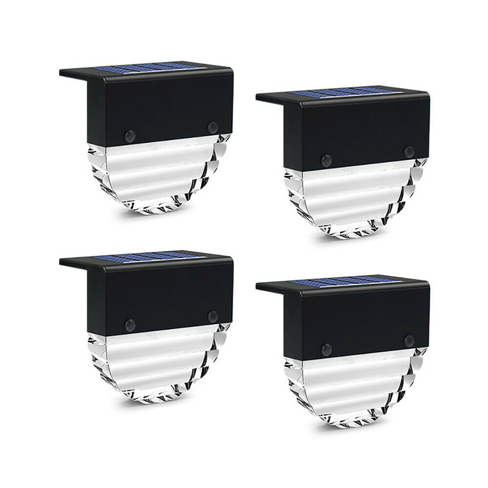 4-pc Outdoor Solar LED Deck Light Garden Decoration Wall and Step Light_0