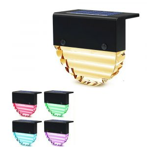 4-pc Outdoor Solar LED Deck Light Garden Decoration Wall and Step Light