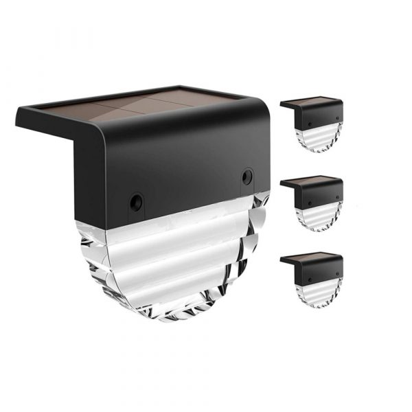 4-pc Outdoor Solar LED Deck Light Garden Decoration Wall and Step Light_2