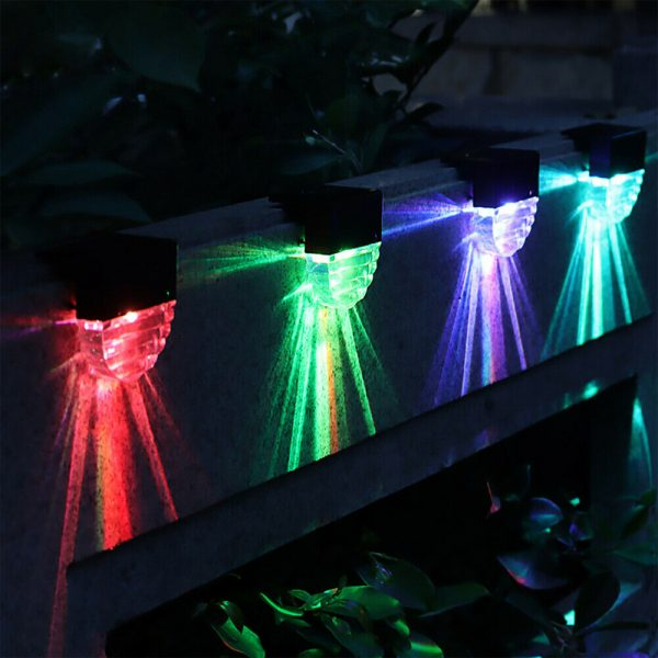 4-pc Outdoor Solar LED Deck Light Garden Decoration Wall and Step Light_4