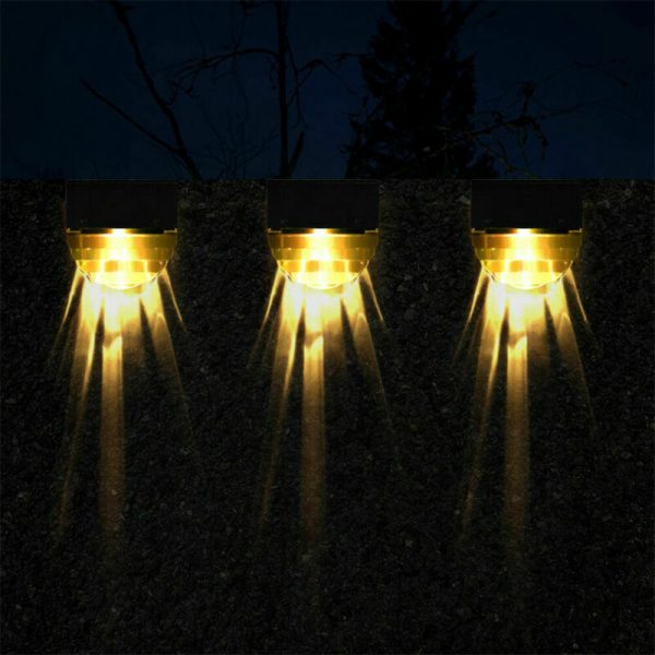 4-pc Outdoor Solar LED Deck Light Garden Decoration Wall and Step Light_14