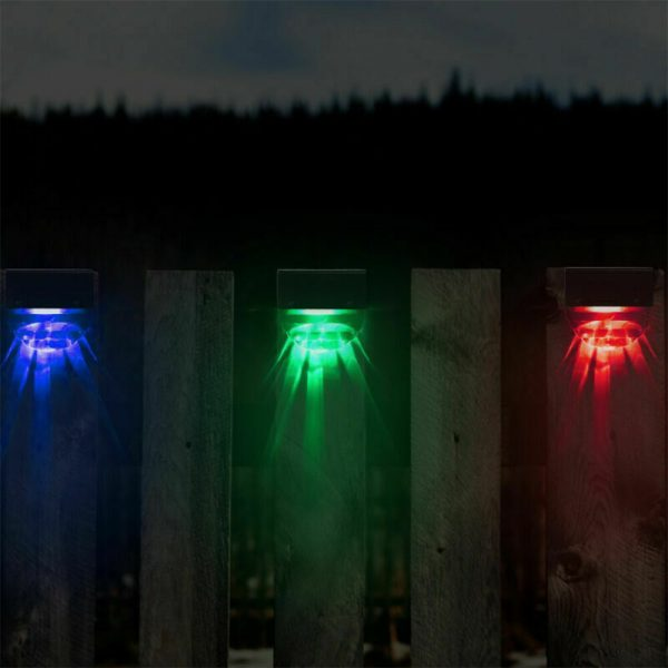 4-pc Outdoor Solar LED Deck Light Garden Decoration Wall and Step Light_15