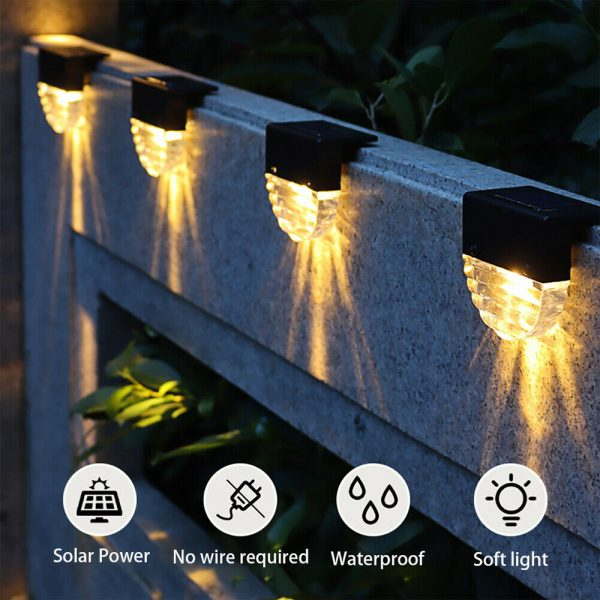 4-pc Outdoor Solar LED Deck Light Garden Decoration Wall and Step Light_6