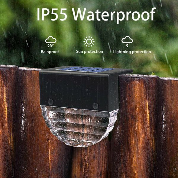 4-pc Outdoor Solar LED Deck Light Garden Decoration Wall and Step Light_7