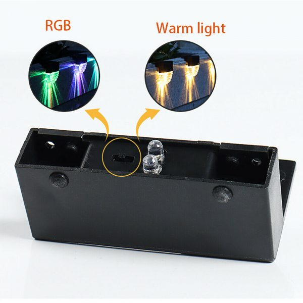 4-pc Outdoor Solar LED Deck Light Garden Decoration Wall and Step Light_8