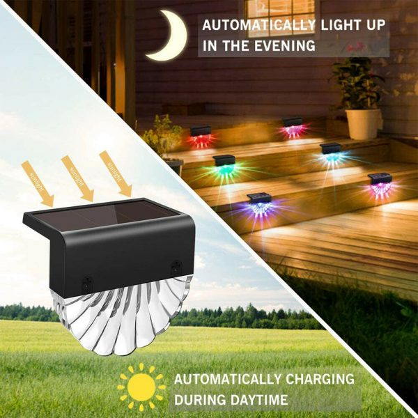 4-pc Outdoor Solar LED Deck Light Garden Decoration Wall and Step Light_11