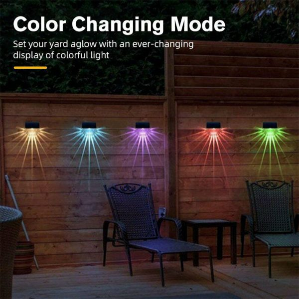 4-pc Outdoor Solar LED Deck Light Garden Decoration Wall and Step Light_13