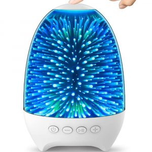 3D Star Sky Crystal Touch Control Bluetooth Speaker with LED Night Light