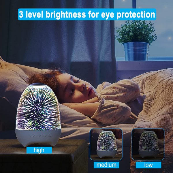 3D Star Sky Crystal Touch Control Bluetooth Speaker with LED Night Light_5