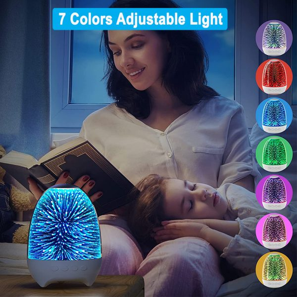 3D Star Sky Crystal Touch Control Bluetooth Speaker with LED Night Light_6