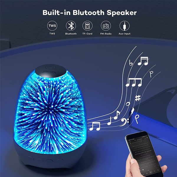 3D Star Sky Crystal Touch Control Bluetooth Speaker with LED Night Light_7