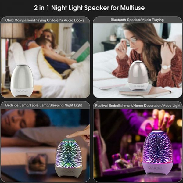 3D Star Sky Crystal Touch Control Bluetooth Speaker with LED Night Light_10