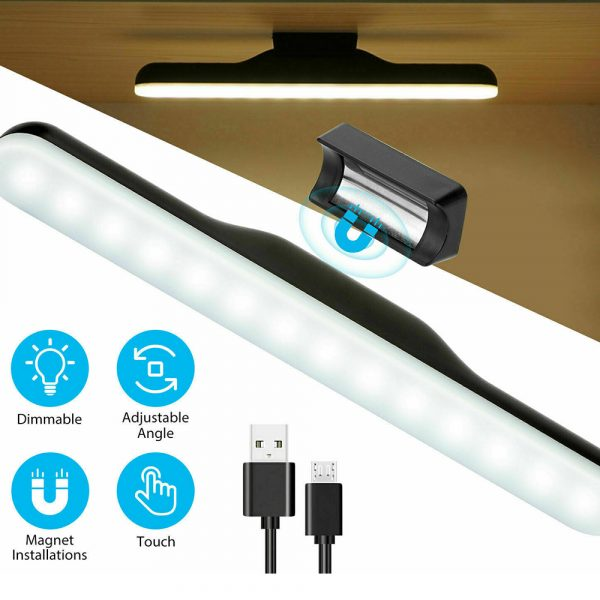 Dimmable LED Magnetic Light Strip Touch Lamp for Reading and Closet_5