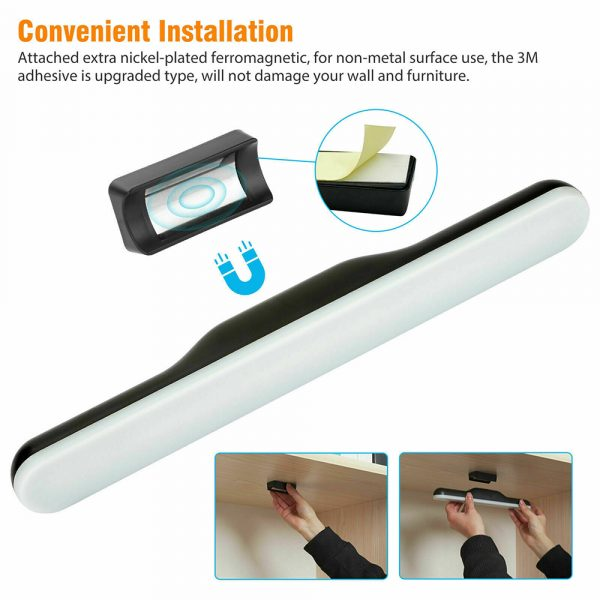 Dimmable LED Magnetic Light Strip Touch Lamp for Reading and Closet_6