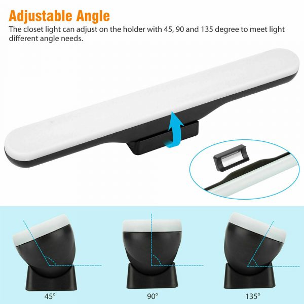 Dimmable LED Magnetic Light Strip Touch Lamp for Reading and Closet_7