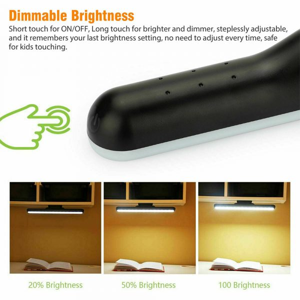Dimmable LED Magnetic Light Strip Touch Lamp for Reading and Closet_8