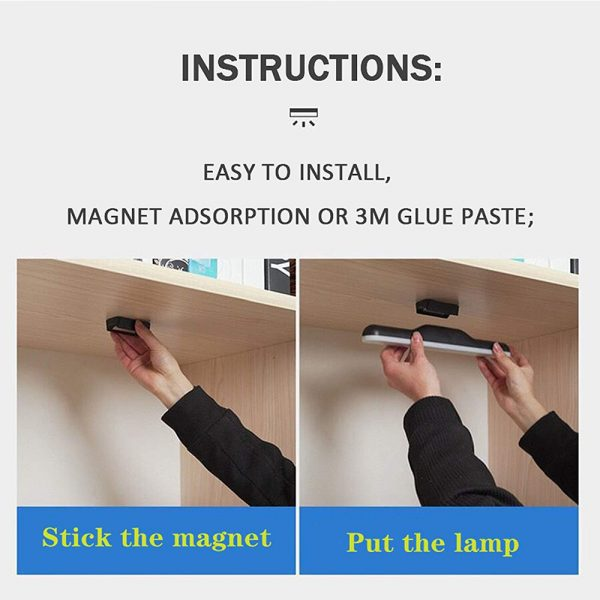 Dimmable LED Magnetic Light Strip Touch Lamp for Reading and Closet_10