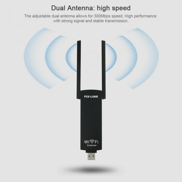 300mbps USB Wireless Wi-Fi Repeater Dual Antenna Signal Booster_7