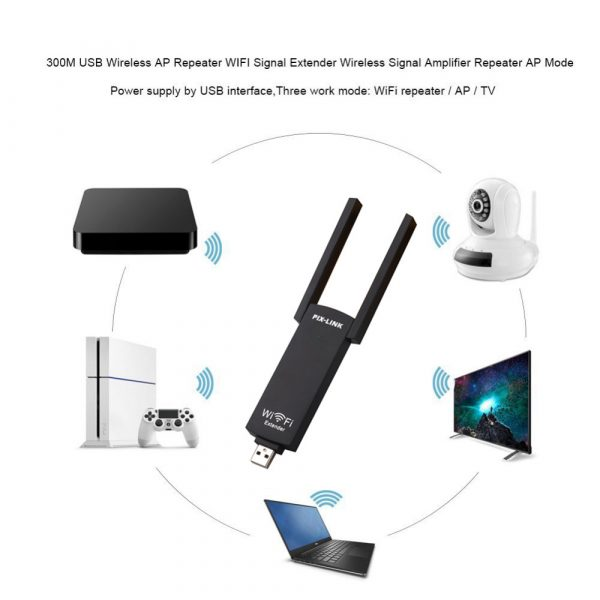 300mbps USB Wireless Wi-Fi Repeater Dual Antenna Signal Booster_10