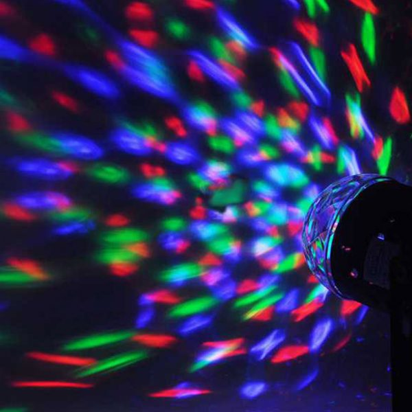 Remote Controlled RGB LED Light Voice Activated Rotating Crystal Light_3