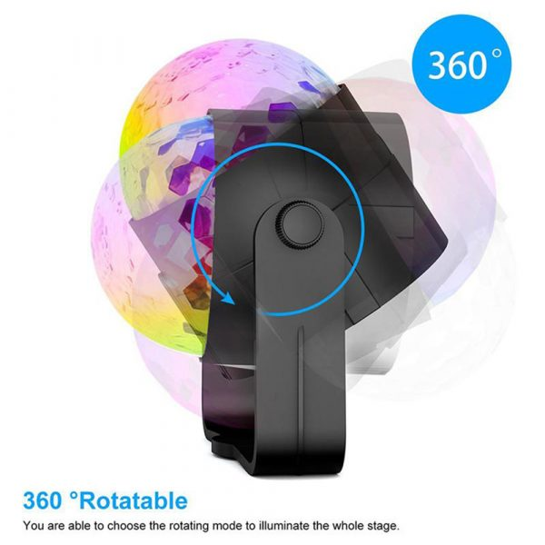 Remote Controlled RGB LED Light Voice Activated Rotating Crystal Light_12