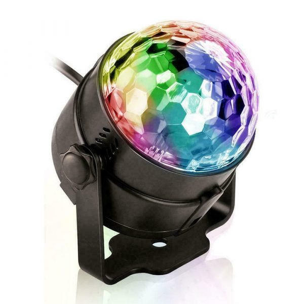 Remote Controlled RGB LED Light Voice Activated Rotating Crystal Light_13