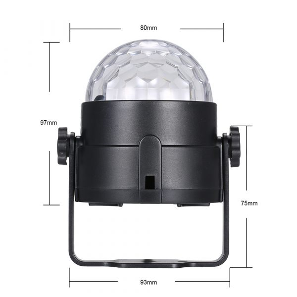 Remote Controlled RGB LED Light Voice Activated Rotating Crystal Light_14